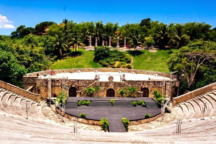 Amphitheater in Altos De Chavon Village in La Romana