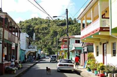 Anse La Raye Village in St. Lucia