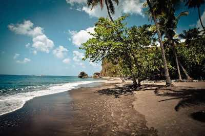 Anse Mamin beach in St. Lucia