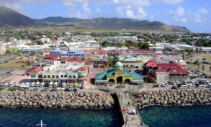 >Basseterre, capital of St. Kitts and Nevis