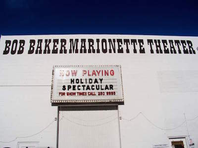 Bob Baker Marionette Theatre in Los Angeles with kids
