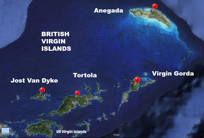 British Virgin Islands Vacation Travel Guide - Us and british virgin islands map