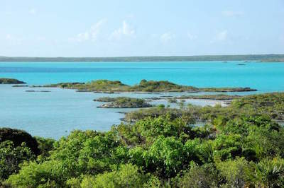 Chalk Sound in Providenciales, Turks and Caicos