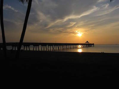 Deerfield Beach International Fishing Pier in Boca Raton