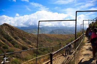 Diamon Head Hiking train in Oahu