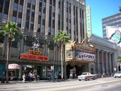 El Capitan Theatre in Los Angeles with kids