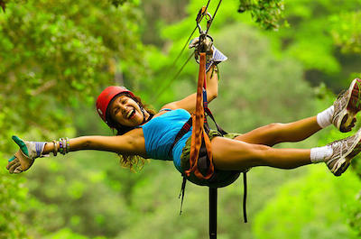 From Playa Hermosa Zipline Tours in Guanacaste
