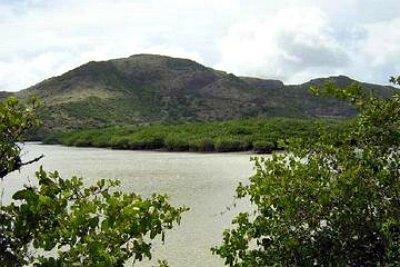 Great Salt Pond In St. Kitts
