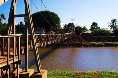 Hanapepe Swinging Bridge in Kauai
