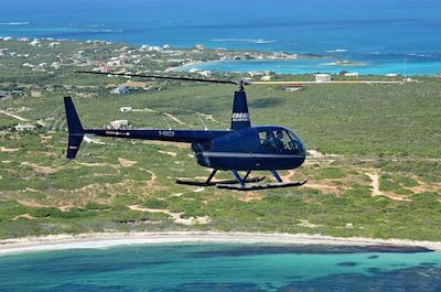 Helicopter tour in St. Martin
