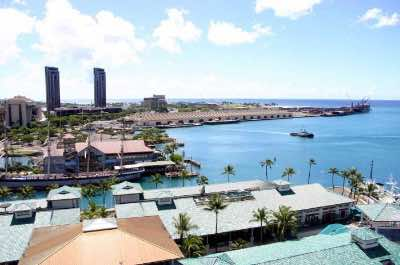 Honolulu Harbor in Honolulu