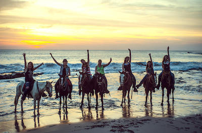 Horseback Riding and Baby Turtle Release in Acapulco