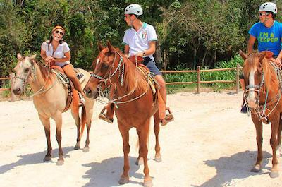 Horseback riding in Cancun