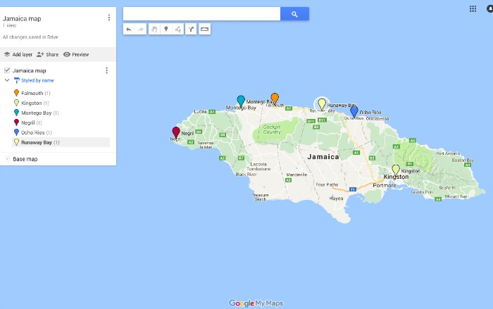 Jamaica vacation travel guide jamaica map gumiabroncs Gallery