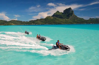 Jet Skiing in Bora Bora