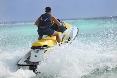 Jet skiing in St. Martin
