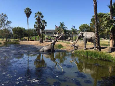 La Brea Tar Pits and Museum in Los Angeles with kids