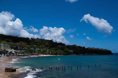 La Toc beach in St. Lucia