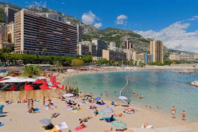 Larvotto Beach in Monaco
