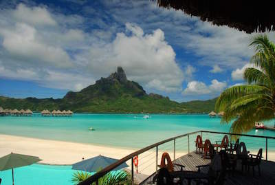 Matira Beach in Bora Bora
