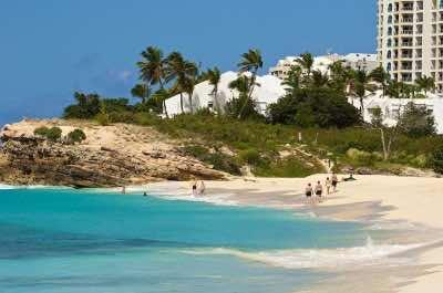 Mullet Bay Beach in St Maarten