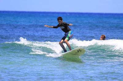North Shore Surfing Lesson at Haleiwa Beach Park in Oahu
