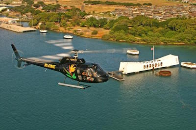 Oahu Sky and Sea Combo: Helicopter Tour with Sunset Dinner Cruise or Atlantis Submarine Excursion