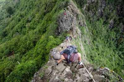 Olomana Three Peaks Trail in Oahu