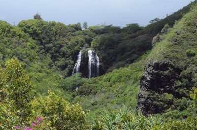 Opaekaa Falls in Kauai