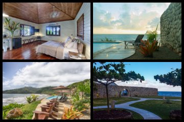 Pagua Bay House Oceanfront Cabanas in Dominica