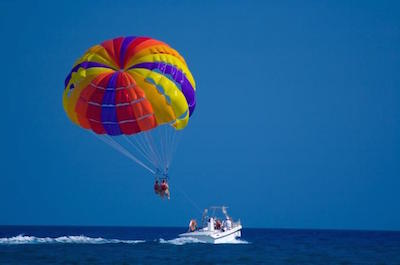 Parasailing in Providenciales, Turks and Caicos