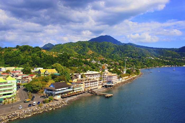 Roseau - capital of Dominica