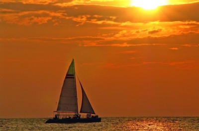Sailing in Cozumel