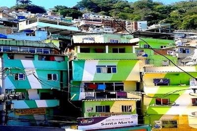 Santa Marta Favela in Rio de Janeiro