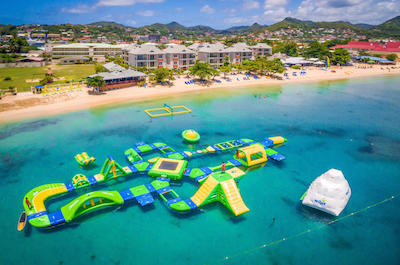 Splash Island Water Park in St. Lucia