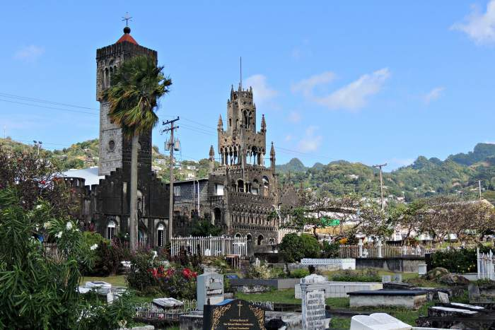 St. Mary's Cathedral Kingstown, capital of St. Vincent and The Grenadines