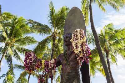Statue of Duke Kahanamoku in Honolulu