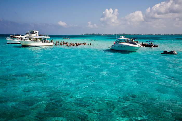 Stingray City on Grand Cayman Island