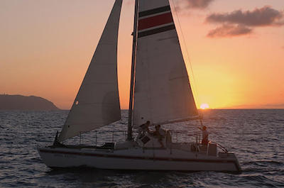 Sunset Catamaran Cruise on Oahu's North Shore