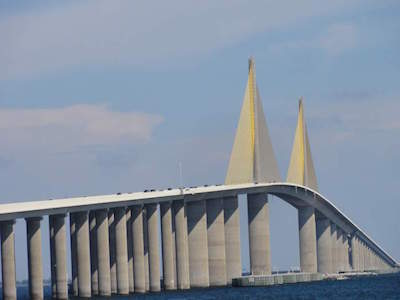 Sunshine Skyway Bridge in Tampa
