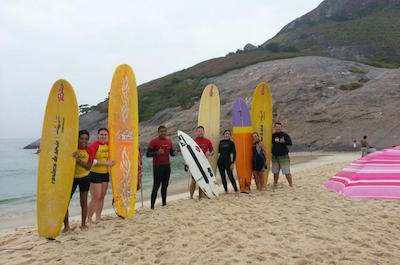 Surfing Lessons in Rio De Janeiro