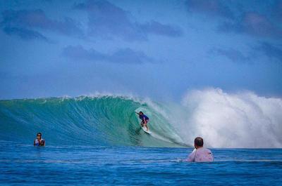 Surfing  in San Juan