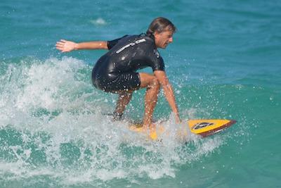 surfing in Tortola