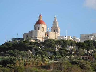 The Parish Church of Mellieha in Malta