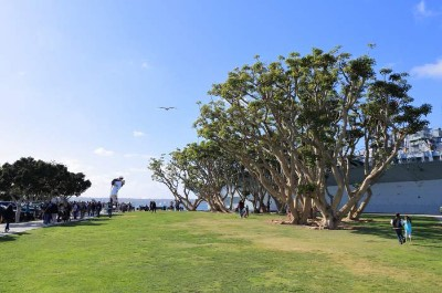 The Unconditional Surrender Statue at Tuna Harbor Park in San Diego