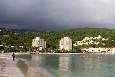 Turtle beach in Ocho Rios
