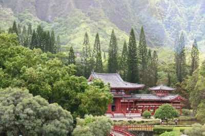 Valley of the Temples in Oahu
