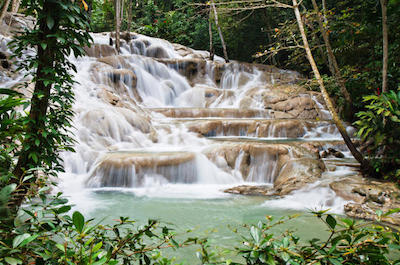 Visit Dunn's River falls in Ocho Rios