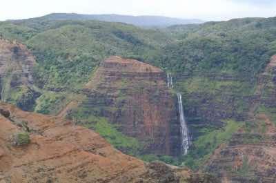 Waipo'o Falls in Kauai