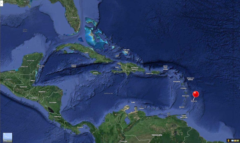 Barbados Vacation Travel Guide - Barbados earth map